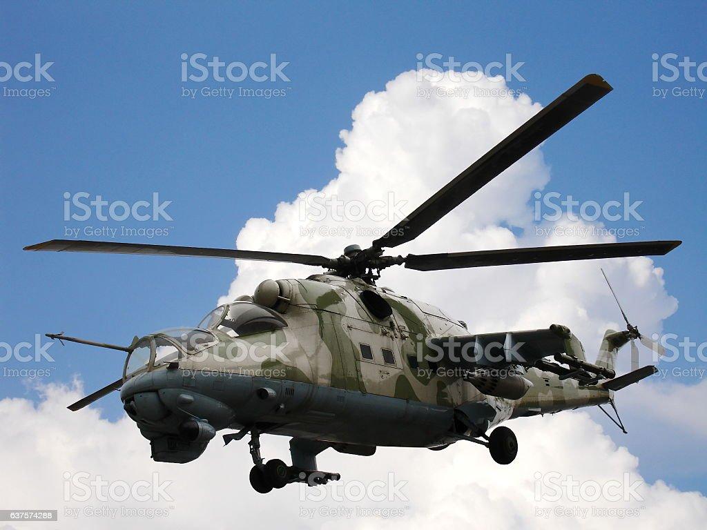 Helicopter Mi-24V Mi-35 stock photo