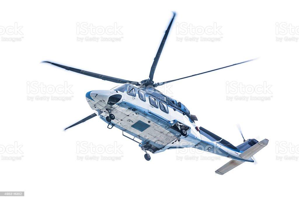 Helikopter auf weißem Hintergrund – Foto
