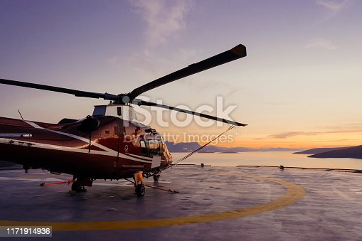 Bodrum, Turkey - Middle East - July 10, 2019, No People, Sunset, Purple, Cloud - Sky, Luxury, Helicopter