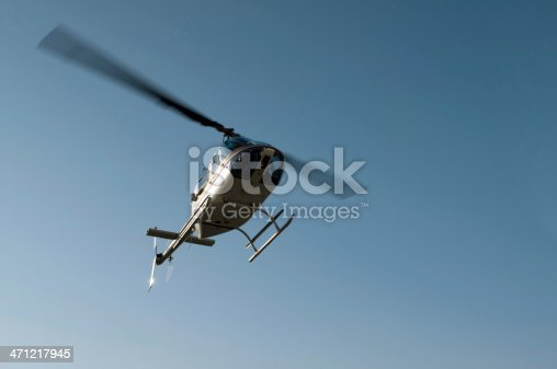 Helicopter on the sky