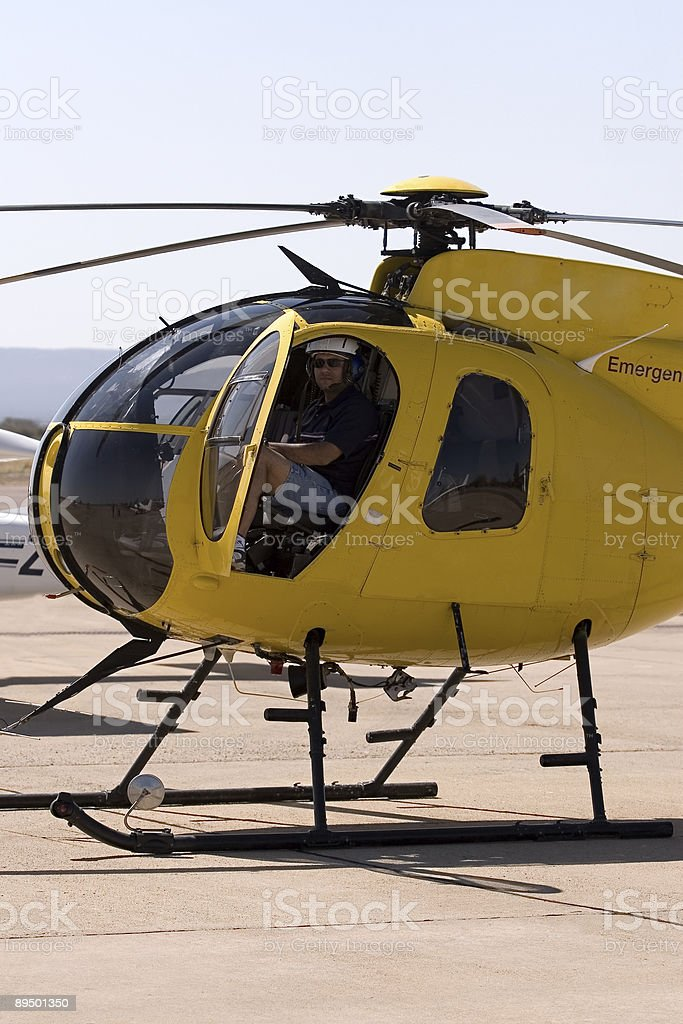 Helicopter pilot royalty free stockfoto