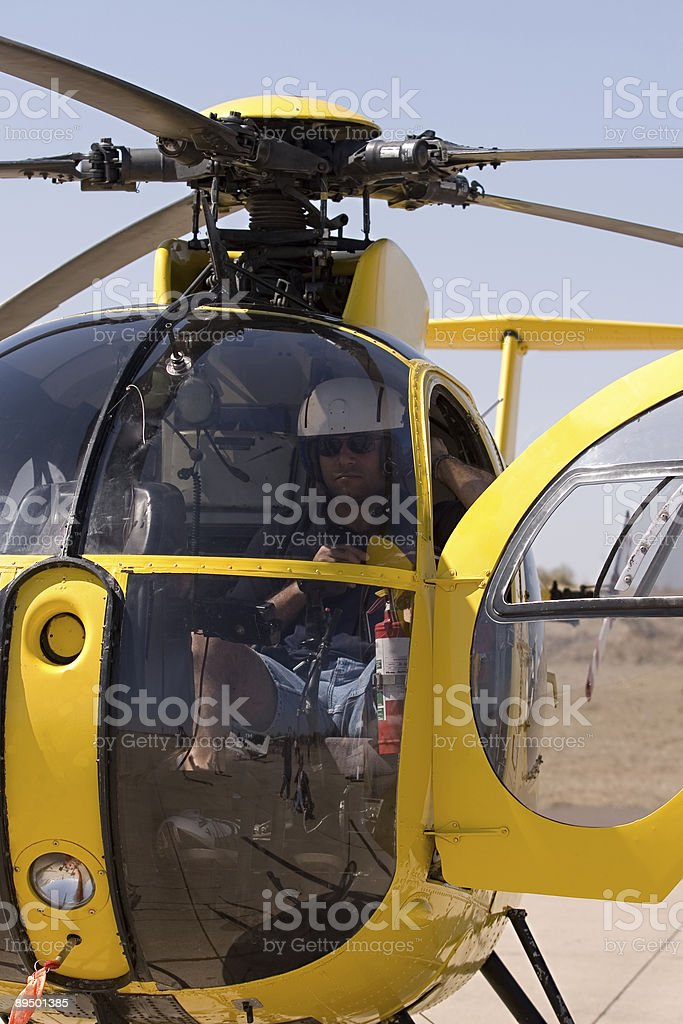 Pilota di elicotteri foto stock royalty-free
