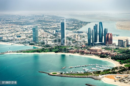 517465184 istock photo Helicopter point of view of Abu Dhabi 515651318