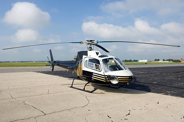 Helicopter Ready for Take Off stock photo