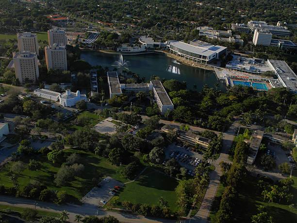 Hubschrauberflug über die University of Miami main campus – Foto