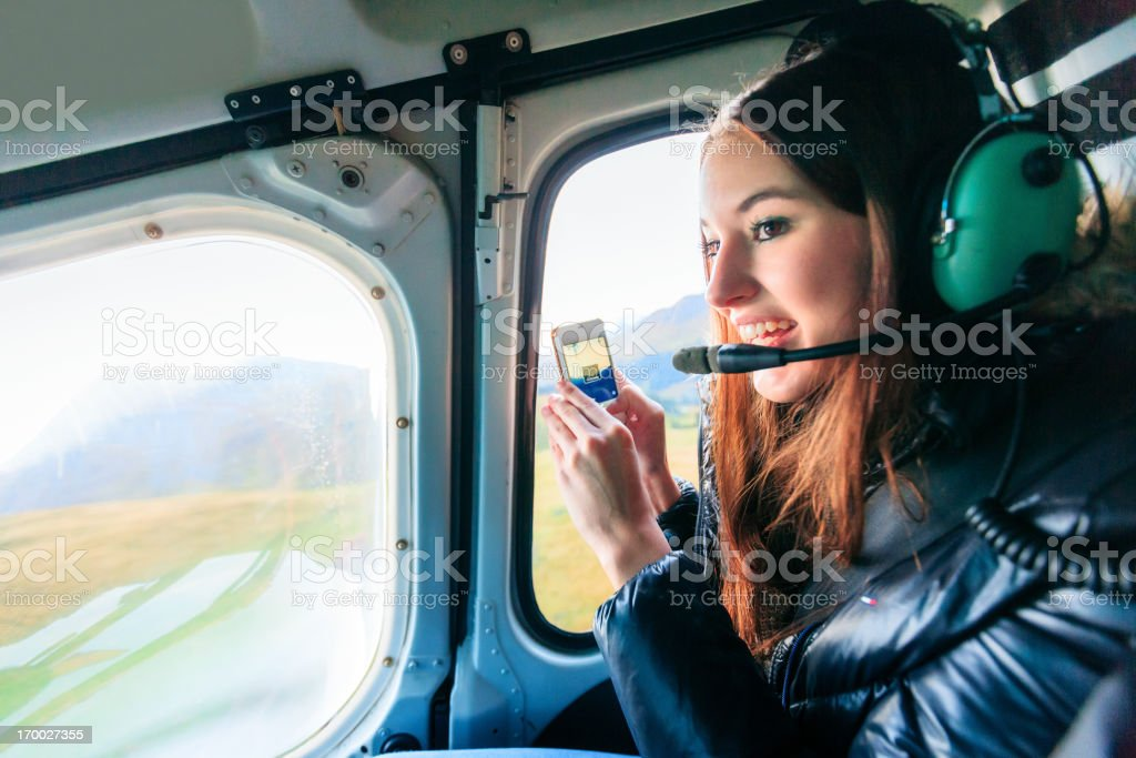 helicopter ride royalty-free stock photo