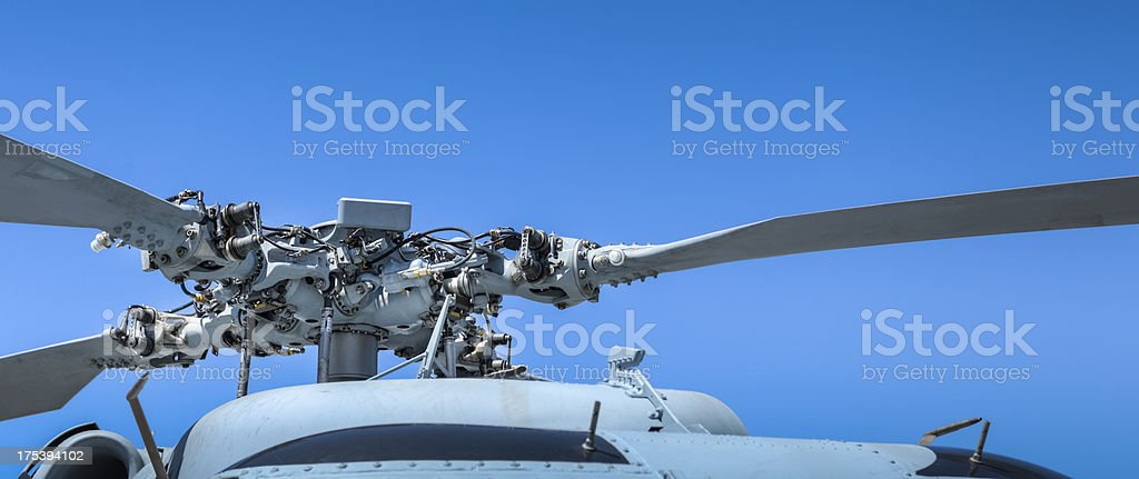 Helicopter Rotor Mechanism Close-up royalty-free stock photo