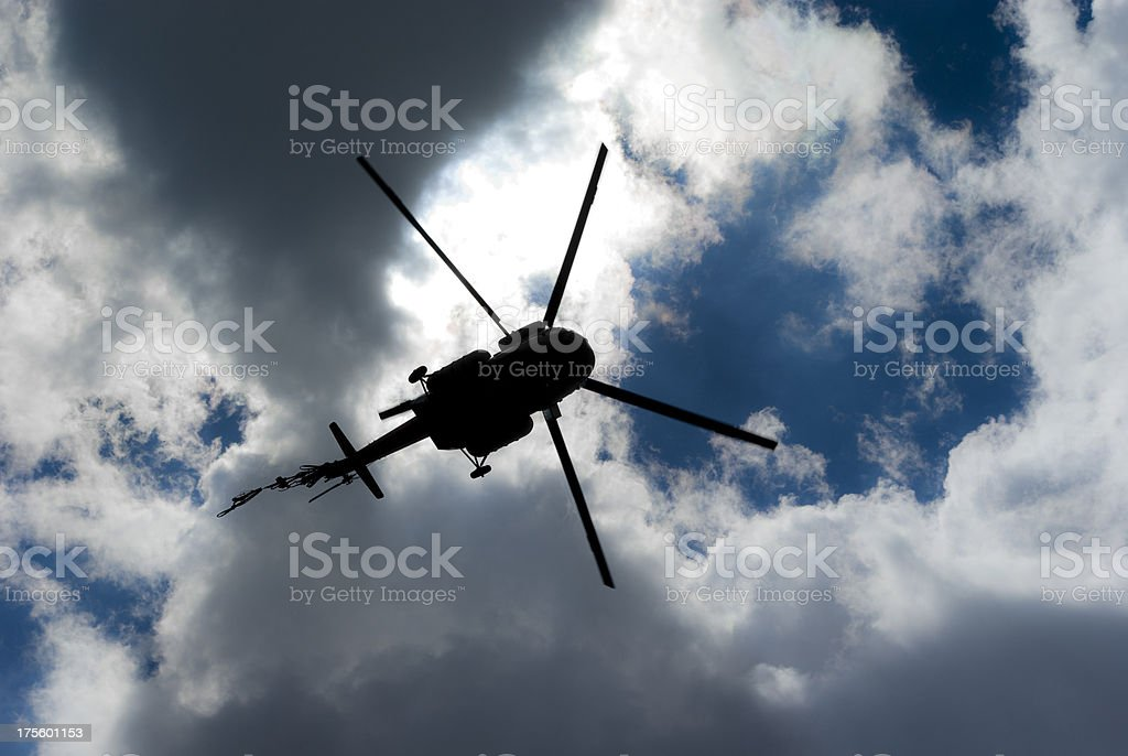 Helicopter silhouette royalty-free stock photo
