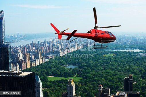 Helicopter tour over Central Park, Manhattan, New York City