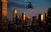 Helicopter tour over Manhattan at night