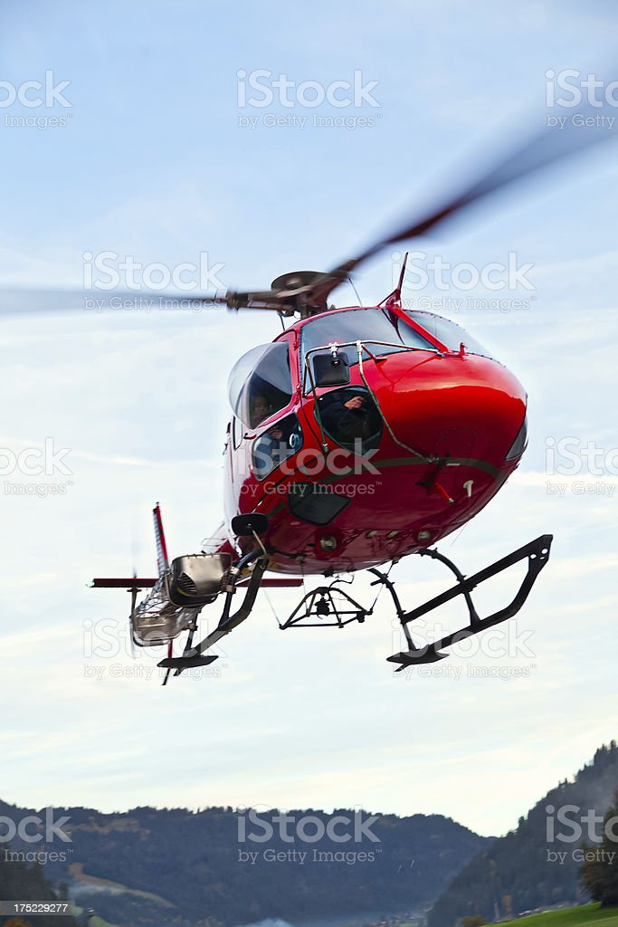 Helicopter Transport in Switzerland royalty-free stock photo