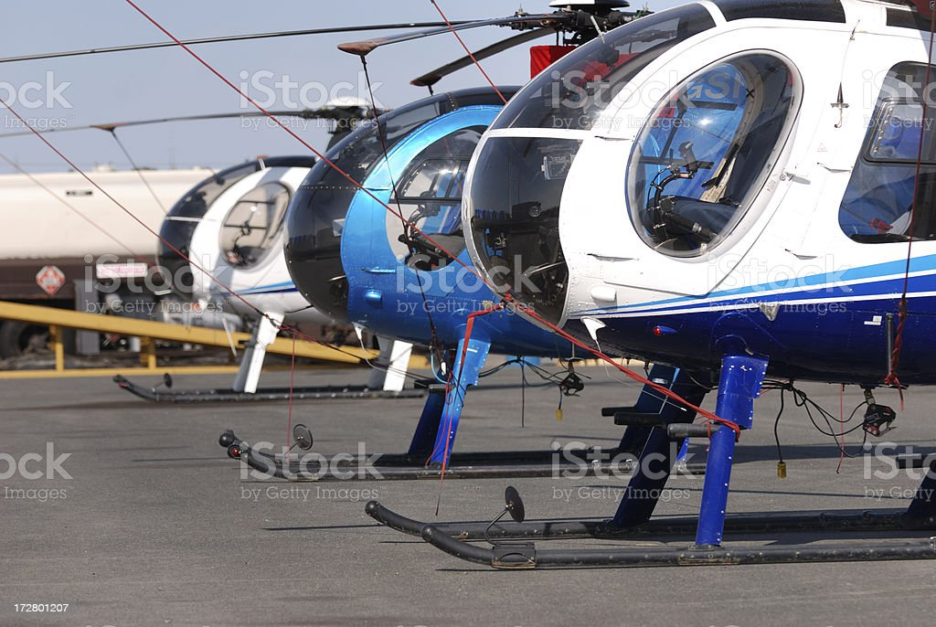 Helicopters in Yellowknife. royalty-free stock photo