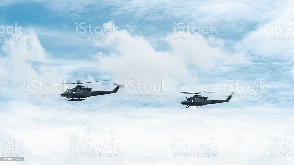 Helicopters of the Canadian Army stock photo