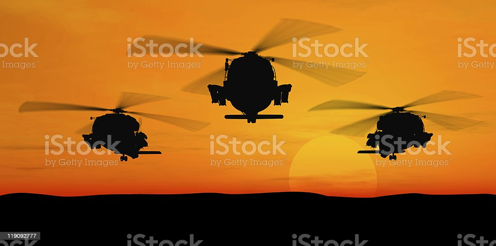 Helicopters. stock photo