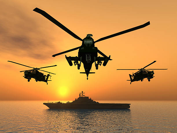 helikopter - flugzeugträger stock-fotos und bilder