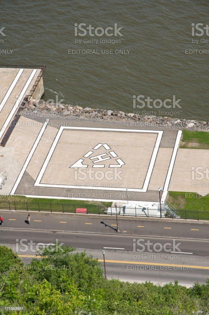 Helipad - helicopter landing pad royalty-free stock photo