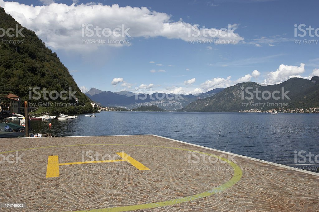 Helipad stock photo