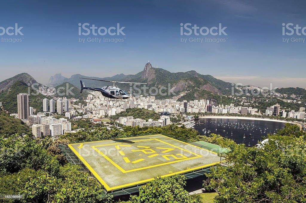 Heliport, Botafogo bay, Rio de Janeiro, Brazil royalty-free stock photo