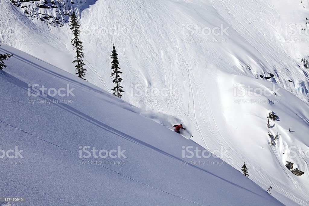 Heliskiing in The Monashees British Columbia royalty-free stock photo