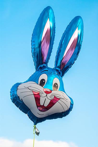Helium baloon in shape of Disney's character Buggy Bunny stock photo