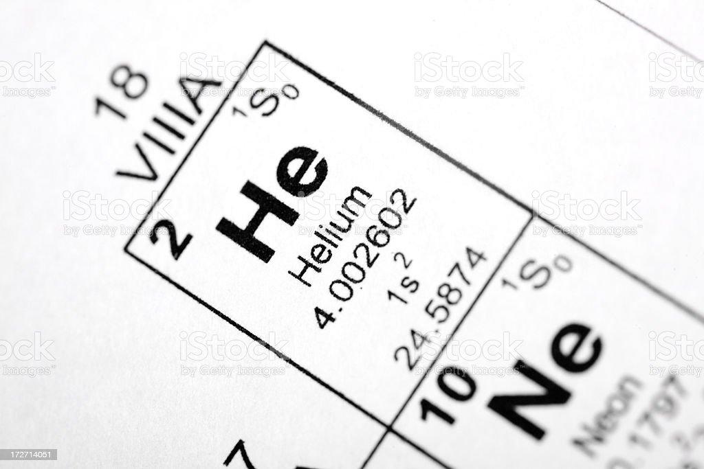 Helium Element royalty-free stock photo