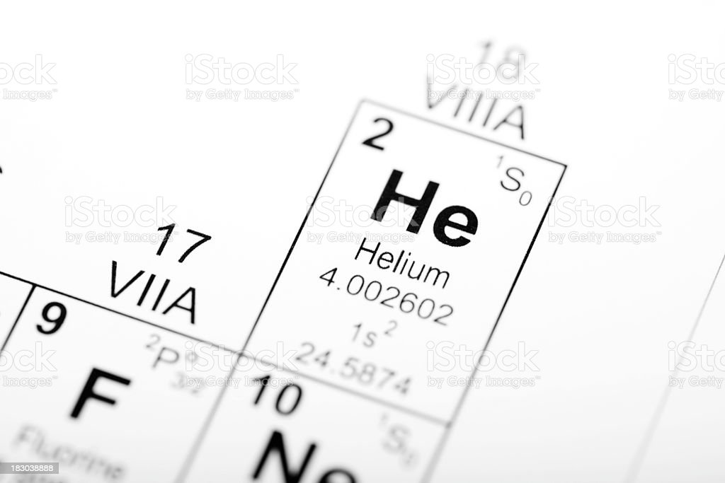 Helium Element royalty-free stock photo