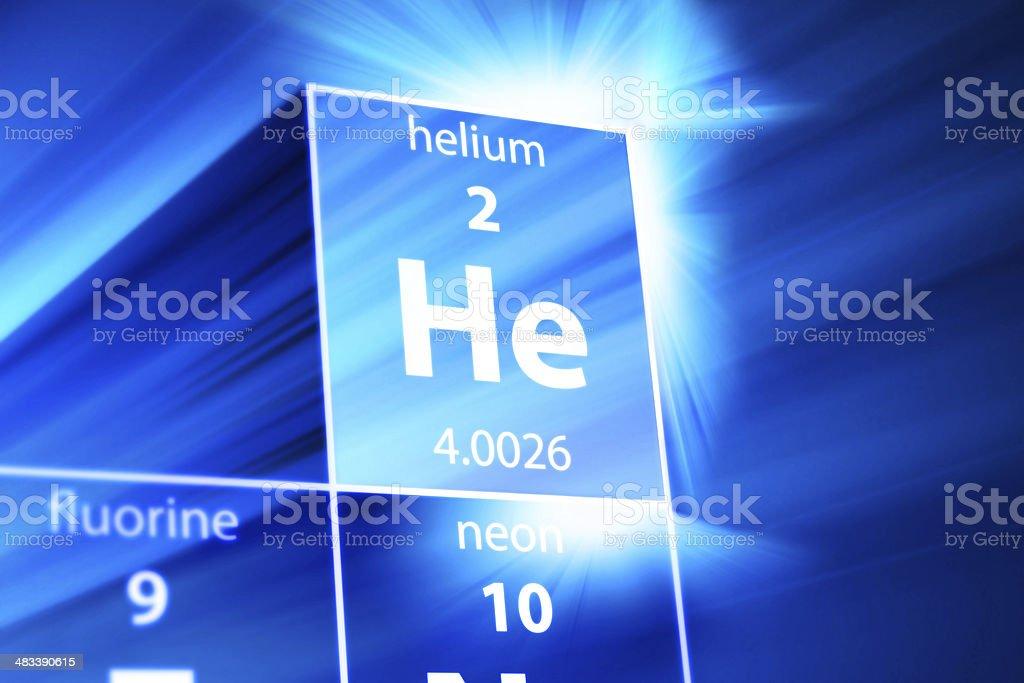 Helium He Periodic Table stock photo