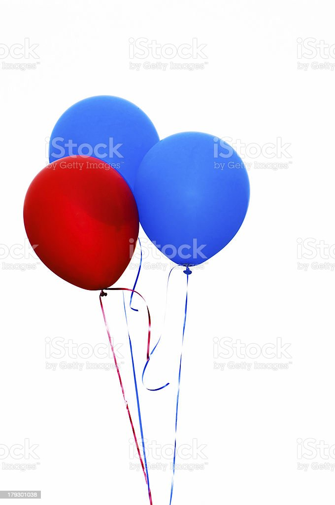 Helium Party Balloons (Isolated) royalty-free stock photo
