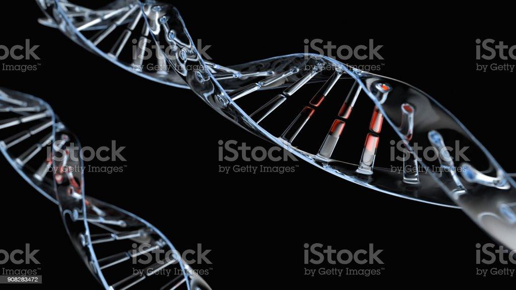 DNA Helix on black stock photo