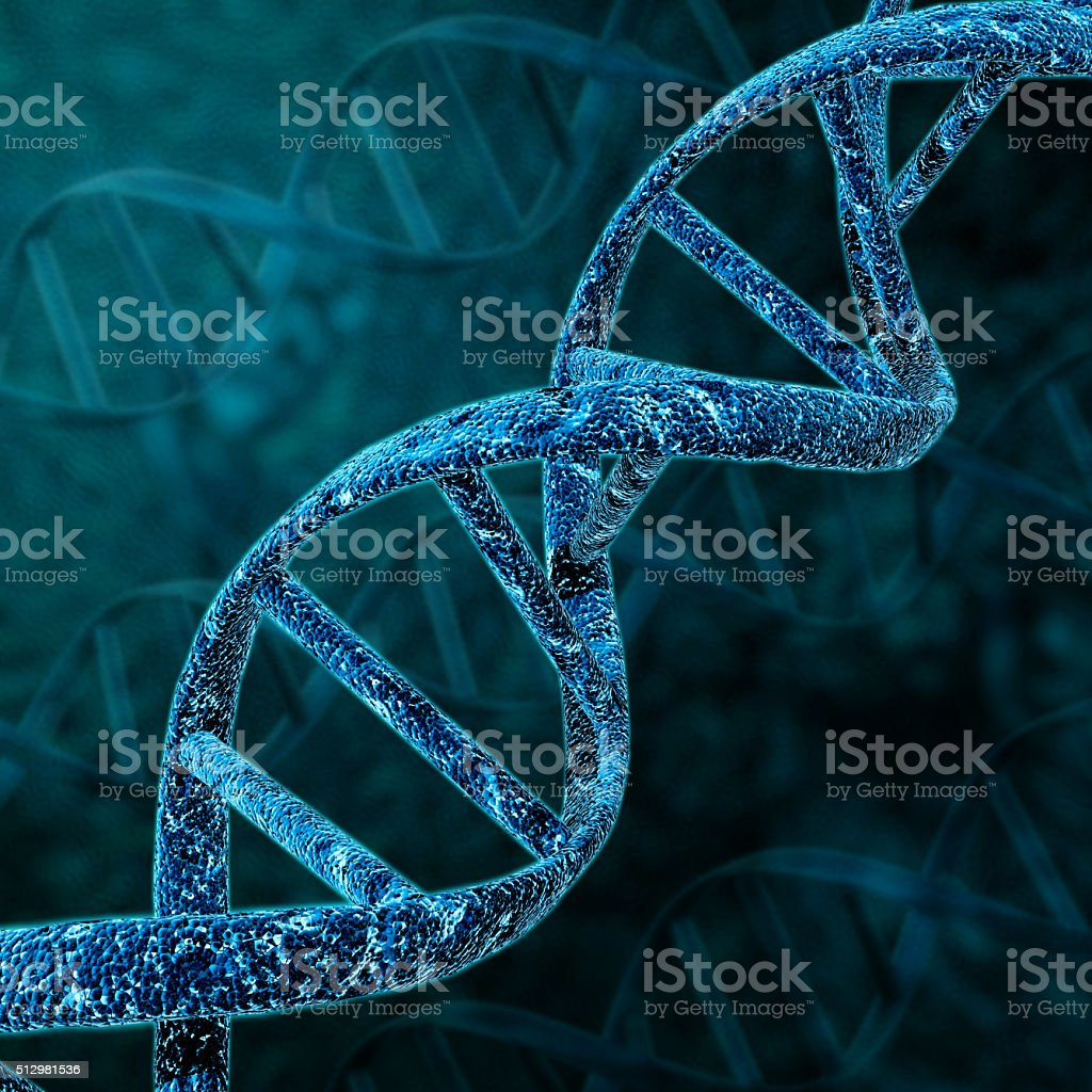 DNA helix structure. stock photo