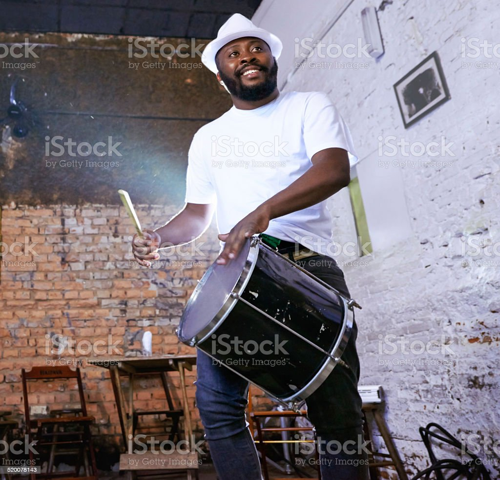 He'll beat your socks off stock photo