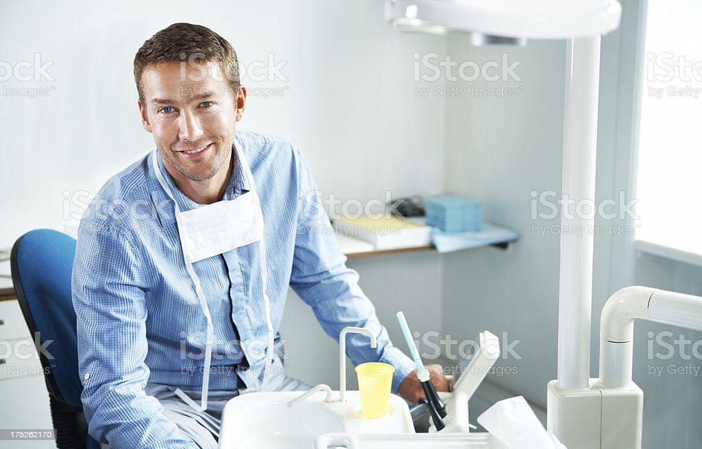 He'll ensure your teeth are perfect royalty-free stock photo