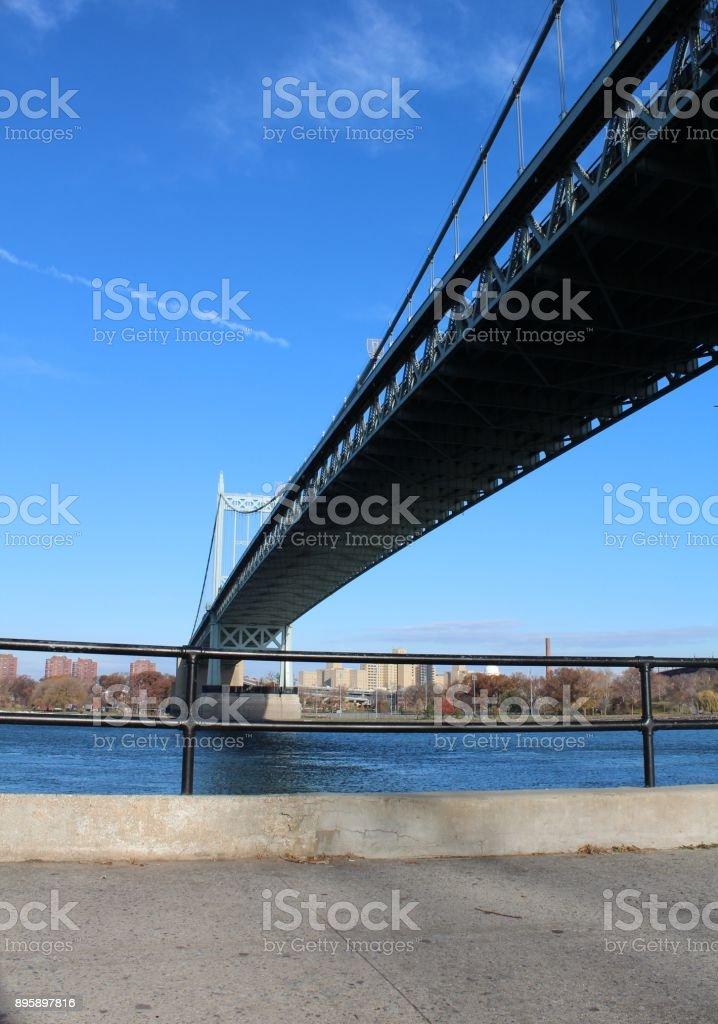 Hell Gate Bridge Astoria, Queens-New York stock photo