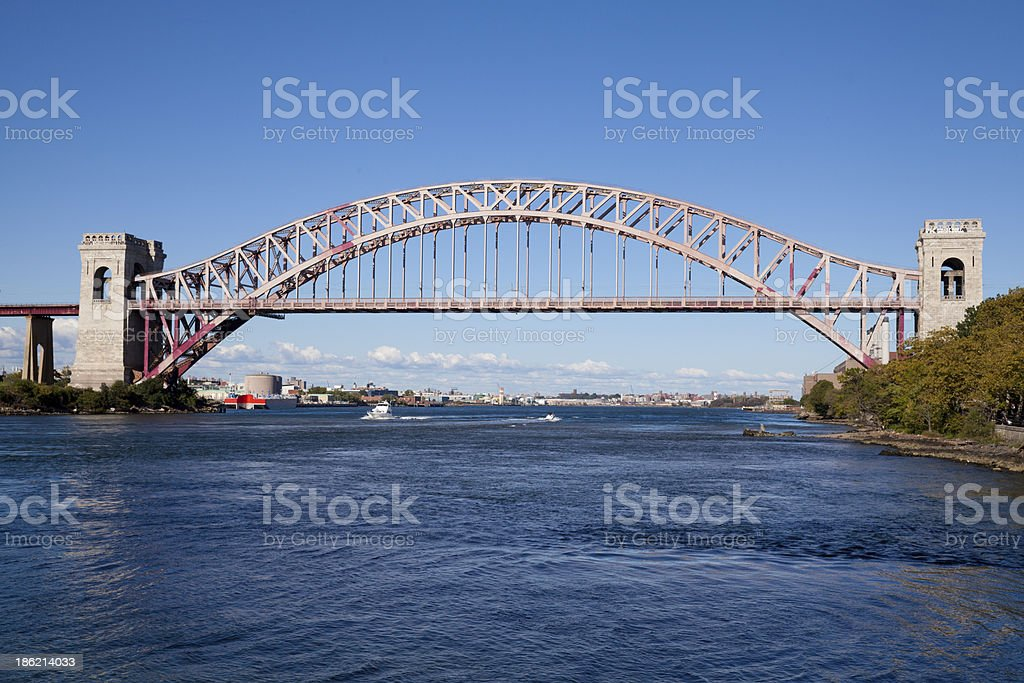 Hell Gate Bridge in New York City stock photo