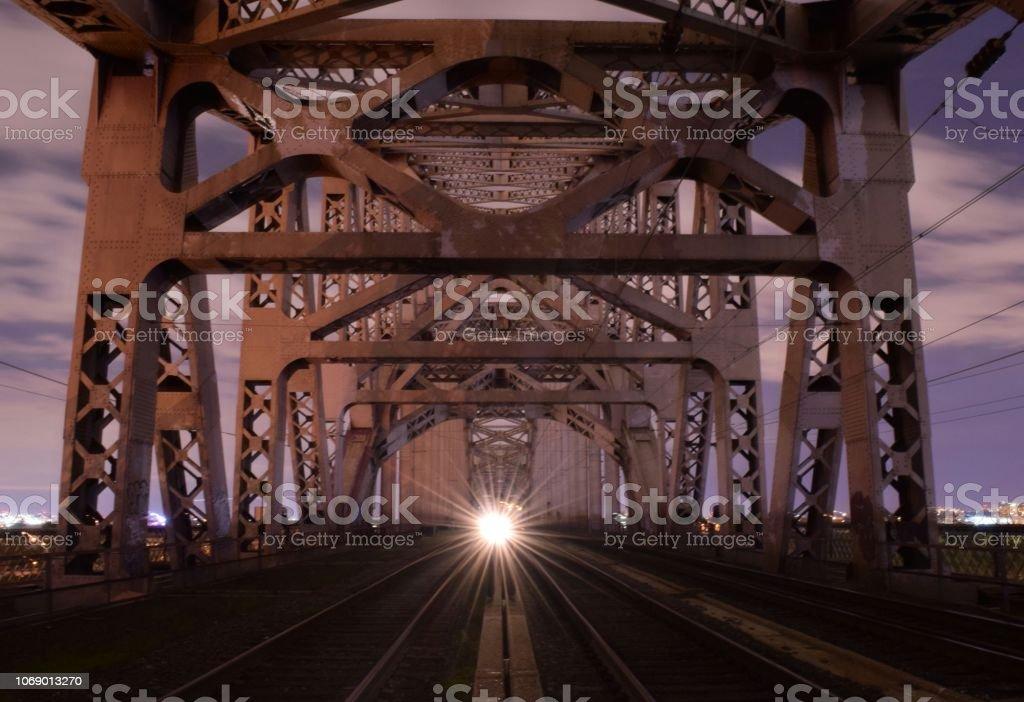 Hell Gate Bridge, New York stock photo