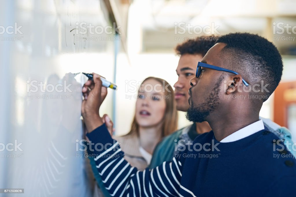 He'll help them pass this semester stock photo
