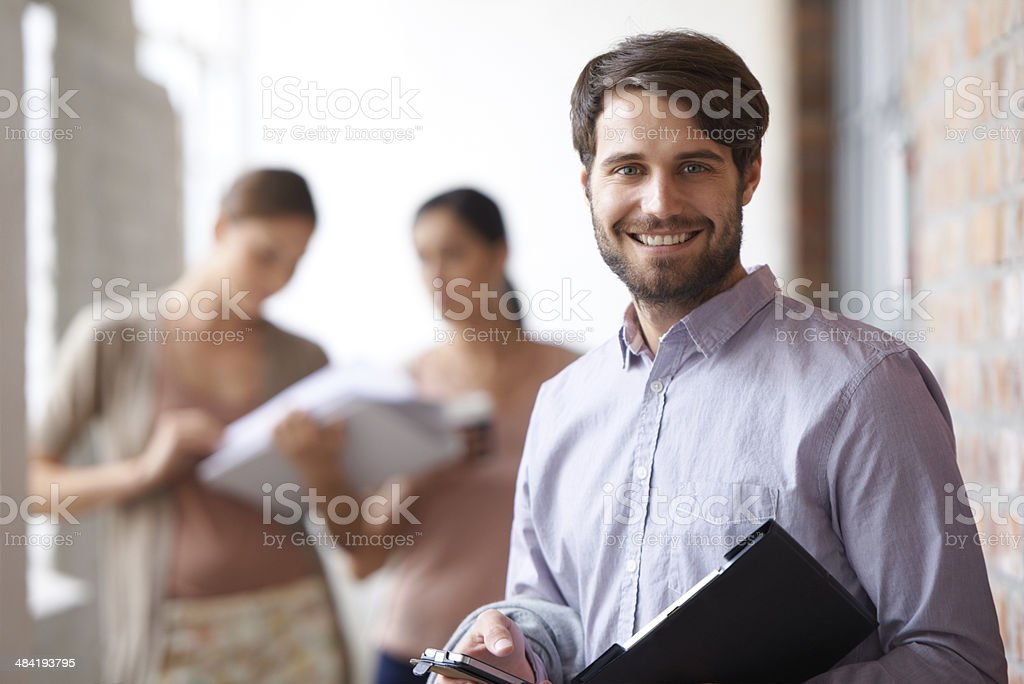 He'll lead his team to success stock photo