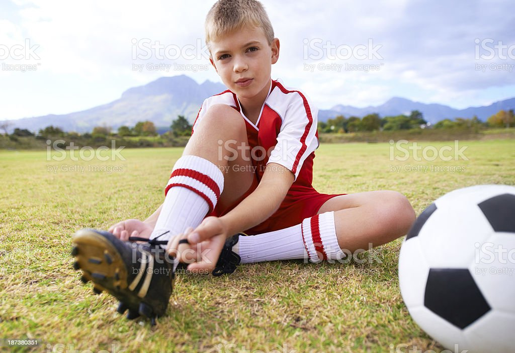 He'll make it big some day royalty-free stock photo