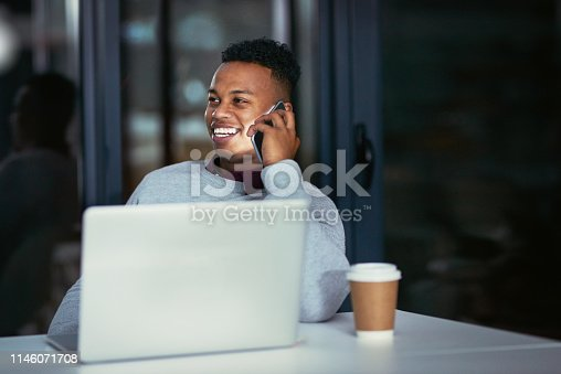 936117940 istock photo He'll stay until he gets it done 1146071708