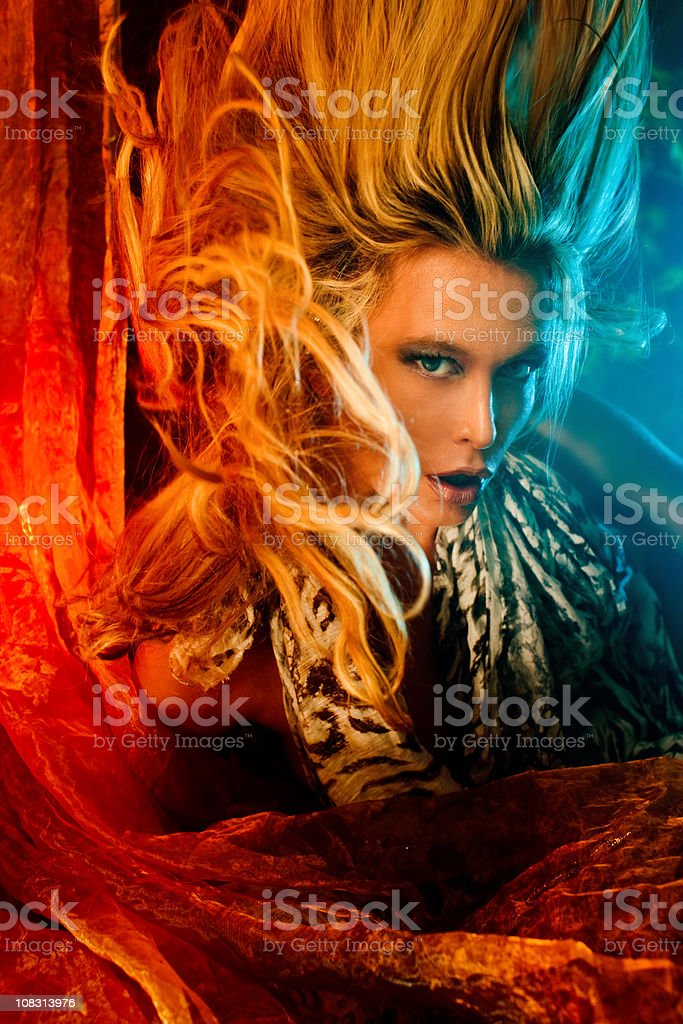 Hell witch stock photo