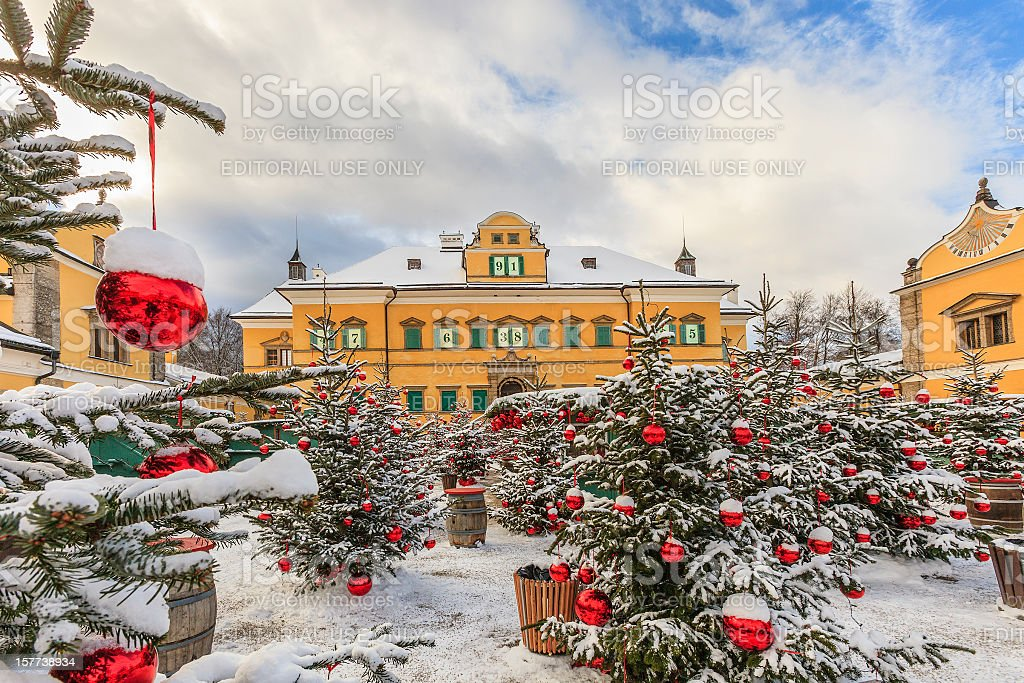 schloss hellbrunn at christmas salzburg stock photo more. Black Bedroom Furniture Sets. Home Design Ideas