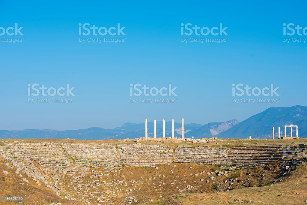 Hellenistic period theater model stock photo