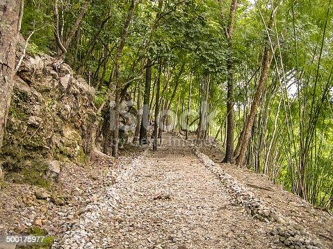 Hellfire Pass, railway cut by prisoners of war in the  Kanchanaburi province, Thailand