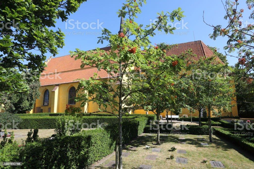 Helligåndskirken Church, Faaborg Denmark stock photo