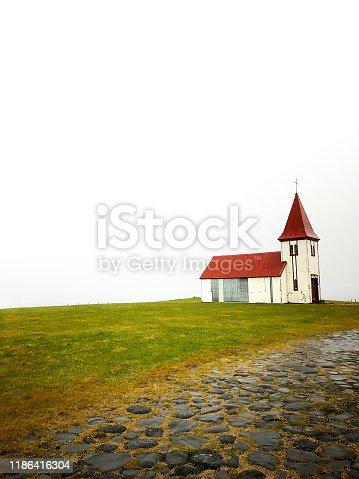 Hellnar, Iceland: Hellnar Church (Hellnakirja), located on the tip of Snaefellsnes Peninsula.
