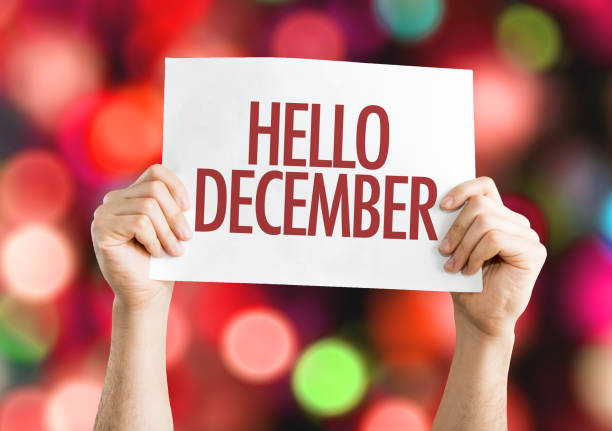 hello december - december stock photos and pictures
