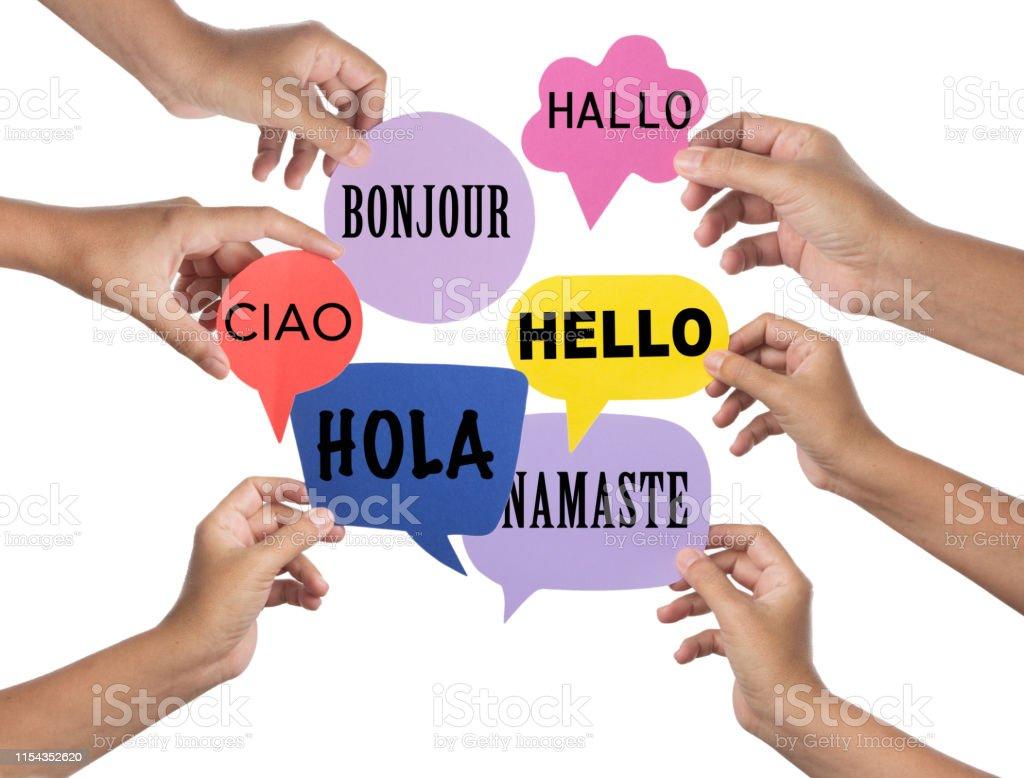 Photo Libre De Droit De Bonjour Salutations Dans Les Langues
