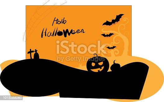 1057069236 istock photo Hello Halloween,Halloween night background blur with pumpkin and characters Happy Halloween 1013388060