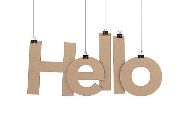 hallo hängen strings - hello stock-fotos und bilder