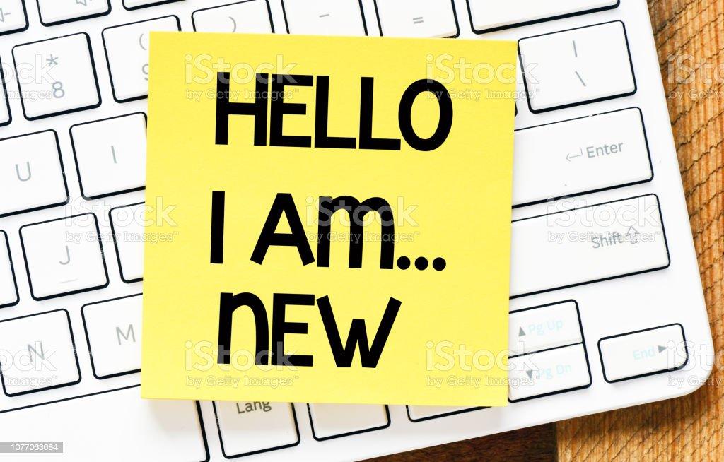 Hello i am... new text concept stock photo